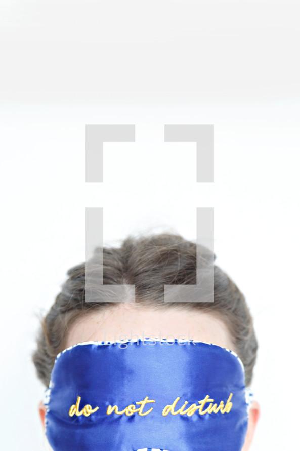 do not disturb sleep mask