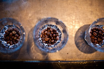 coffee beans in glasses