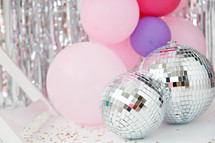 balloons and disco balls