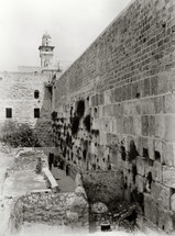 The general view of the Western Wall from south.