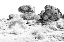 rocks in the Australian Outback