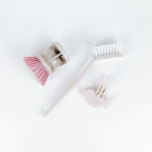 scrub brushes on white
