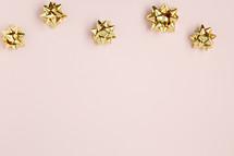 gold holiday bows