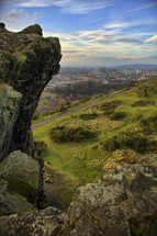 View of Edinburgh Scotland from Arthurs Seat