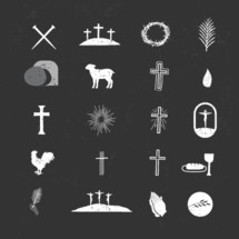 Easter Sunday Icon Vector Pack