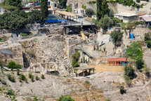 Area G of the City of David from the southeast.