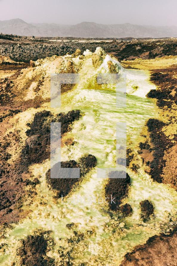 volcanic depression in Ethiopia