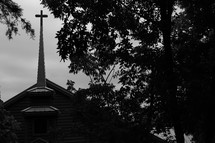 cross on a church steeple