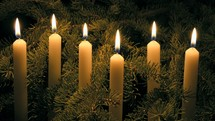 flickering flames on candles