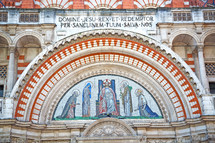 painting above a door at Westminster cathedral in London