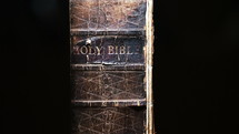 spine of an old Bible