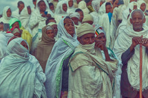 people at a celebration in Ethiopia