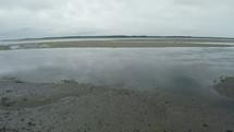low tide on a beach