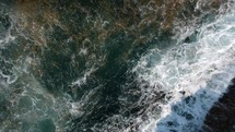churning sea and waves