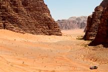 desert sand and cliffs
