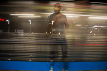 blurry image of a man