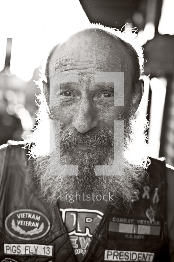 man with a long beard