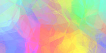 bright yellow blue pink green gradient geometric wallpaper