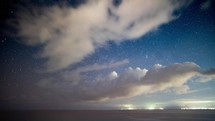 Puerto Vallarta shore time lapse - stars and clouds