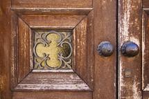 brass, brown, door knocker