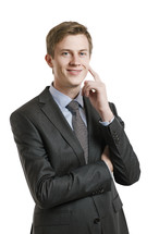 Smiling, successful businessman.
