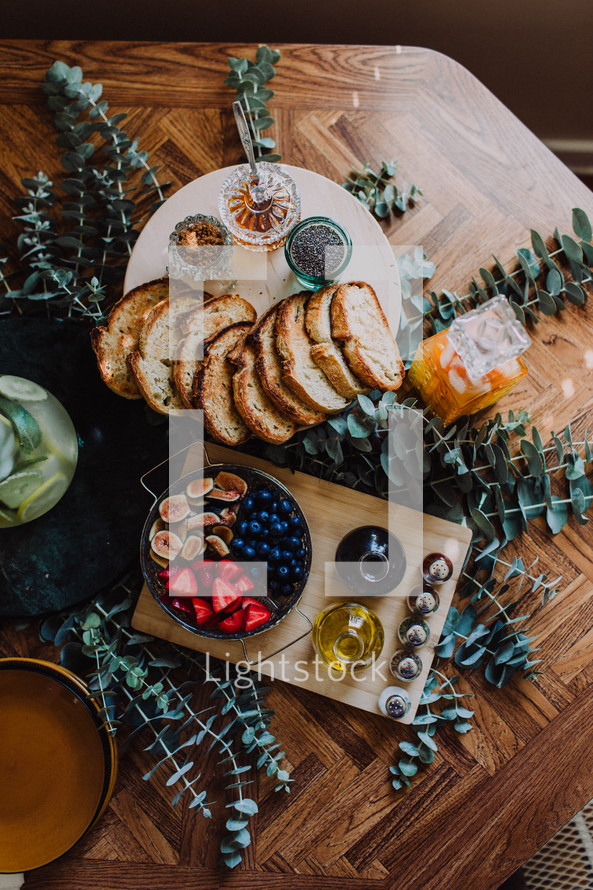 appetizers on a table