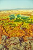 Volcanic lake depression in Ethiopia