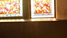 distressed church interior