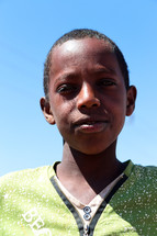 face of a boy in Ethiopia