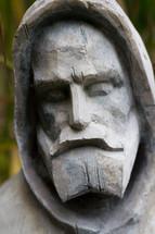 Saint Francis wood sculpture