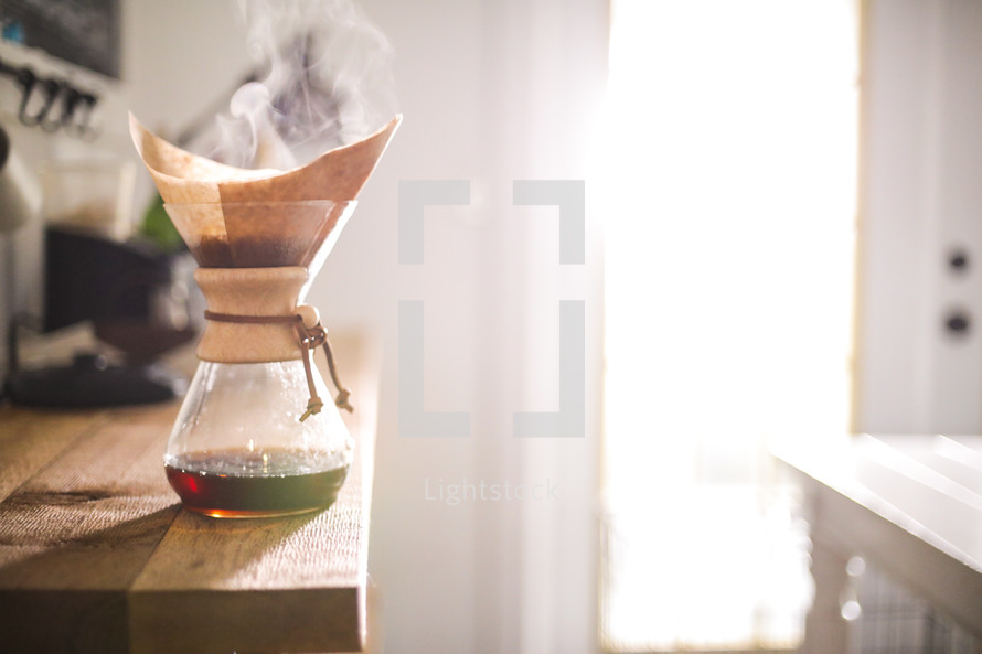 Chemex slow brew coffee carafe