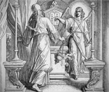 The Angel appears to Zechariah, Luke 1:5-20