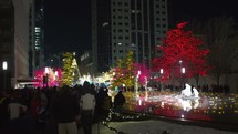 Salt Lake City Christmas decorations and crowds