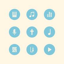 worship music icons.