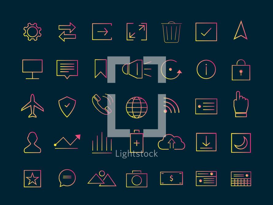 Icon vector for social media.Application icon design