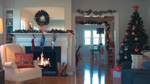 home decorated for Christmas