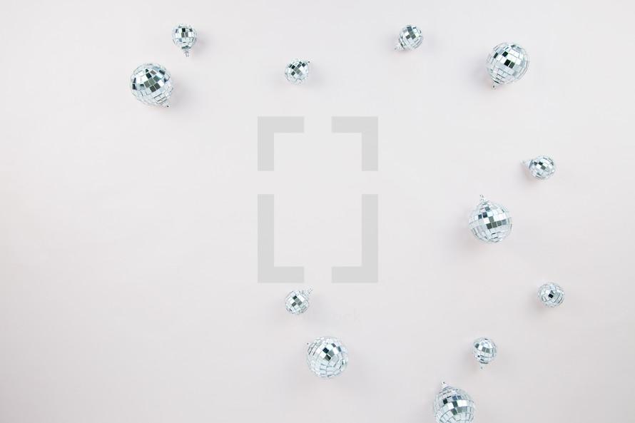 mirror disco ball ornaments