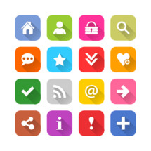 social media and internet icon set