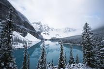 Moraine Lake in winter