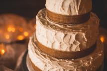 wedding cake on a table
