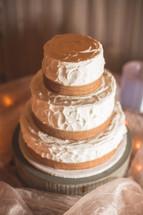 a wedding cake on a table