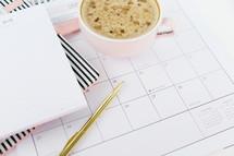latte on a calendar