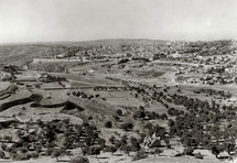 Jerusalem and the Kidron Valley from Mount Scopus.