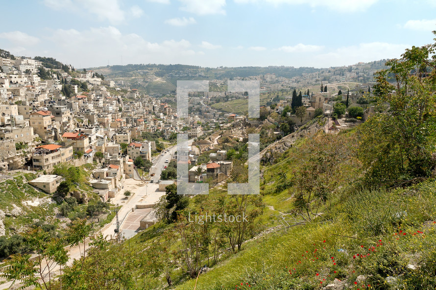 City of David and Kidron Valley from the north.