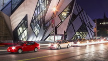 traffic in Toronto at night