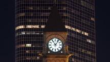 The city clock Toronto
