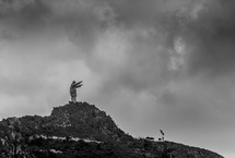 statue of Jesus with raised arms on Erotic Mountain