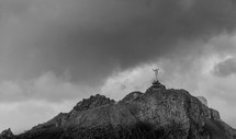 statue of Jesus with hands raised on Erotic Mountain
