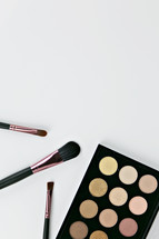 makeup and makeup brushes