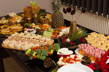 Beautifully Decorated Decadent Food Feast Celebration